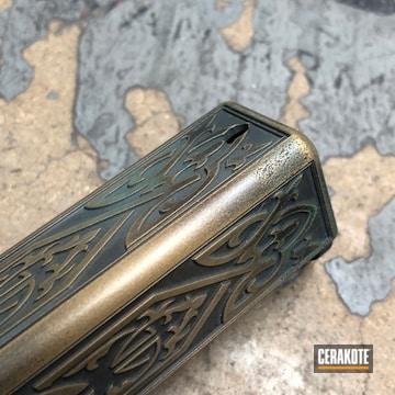 Cerakoted Celtic Themed Glock 17 Slide