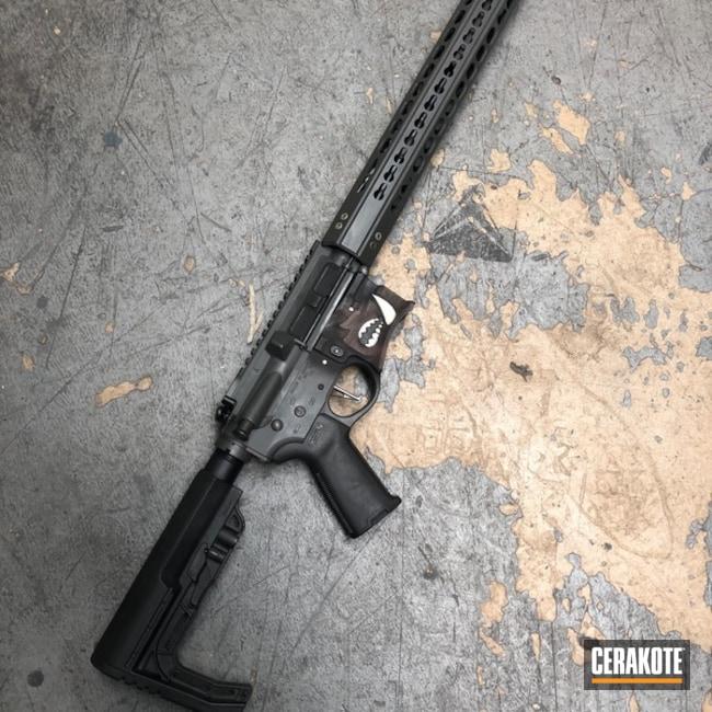 Cerakoted: Rifle,Bright White H-140,Sniper Grey H-234,MAGPUL® FLAT DARK EARTH H-267,Spike's Tactical,Snow White H-136,Armor Black H-190,Tactical Rifle,Gun Coatings,Spike's Tactical Warthog,Warthog,AR-15