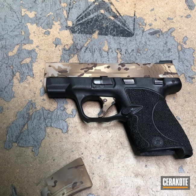 Smith & Wesson Handgun with Cerakote Arid MultiCam