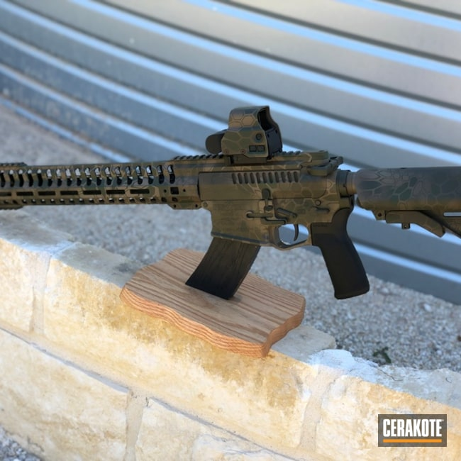 "Thumbnail image for project ""AR-15 with a Kryptek Cerakote Finish"""
