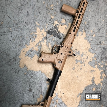 Cerakoted H-190 Armor Black And H-268 Troy Coyote Tan