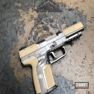 Cerakoted Cerakote Two Toned Fnh Five-seven Handgun