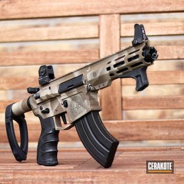 Cerakoted Ar Pistol In A Custom Cerakote Cloud Camo Finish