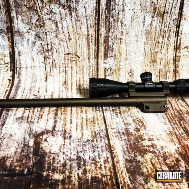 Cerakoted: Rifle,Scope Mount,Gun Coatings,Midnight Bronze H-294