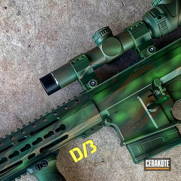Cerakoted H-148 Burnt Bronze, H-168 Zombie Green And H-200 Highland Green
