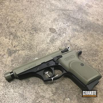 Cerakoted Bersa Thunder 22 Handgun With Cerakote H-204 Hazel Green