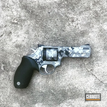 Cerakoted Taurus 357 Revolver In A Cerakote Digital Camo Finish
