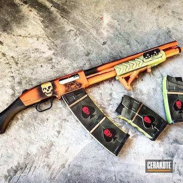 Cerakoted Battleworn 12 Gauge Shotgun