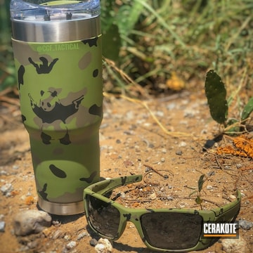 Cerakoted Matching Camo Finish On This Oakley And Tumbler Cup
