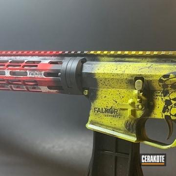 Cerakoted Patriotic Themed Falkor Defense Rifle