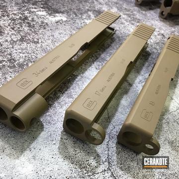 Cerakoted Glock Slides Cerakoted In H-235 Coyote Tan