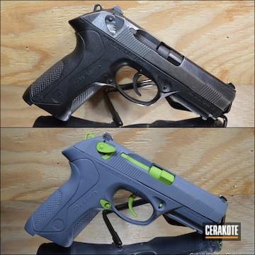 Cerakoted H-168 Zombie Green And H-295 Cobalt Kinetics Slate