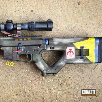 Cerakoted Star Wars Themed Ar-15 Rifle