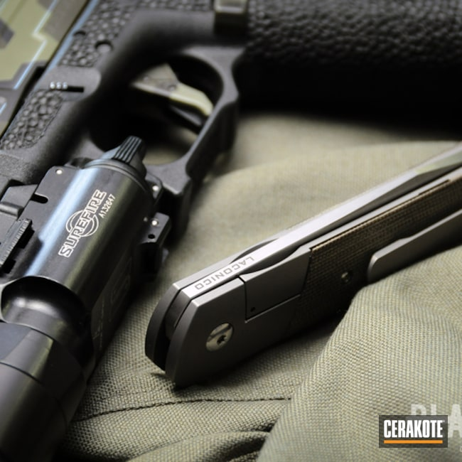 Cerakoted: MultiCam,Graphite Black H-146,Pistol,Glock,Gun Coatings,Noveske Bazooka Green H-189,MAGPUL® O.D. GREEN H-232
