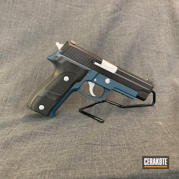 Cerakoted H-185 Blue Titanium, H-151 Satin Aluminum And Hir-146 Gen Ii Graphite Black
