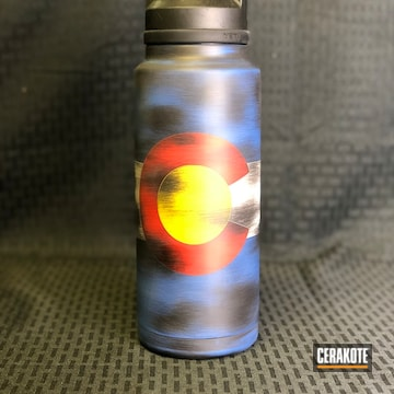 Cerakoted Custom Water Bottle Cerakoted With H-146, H-167, H-140, H-171 And H-144