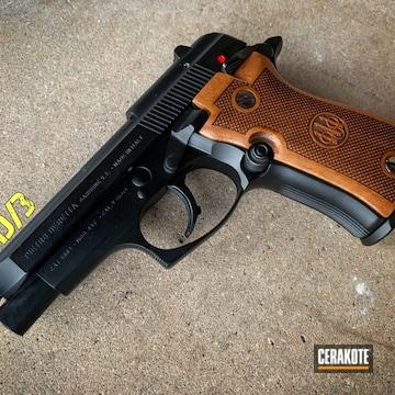 Cerakoted Beretta 84 Handgun In A Cerakote Graphite Black Finish