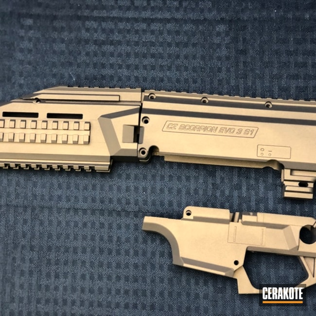 Smaller version of the 1st project picture. Burnt Bronze H-148Q, CZ Scorpion Evo, Gun Coatings