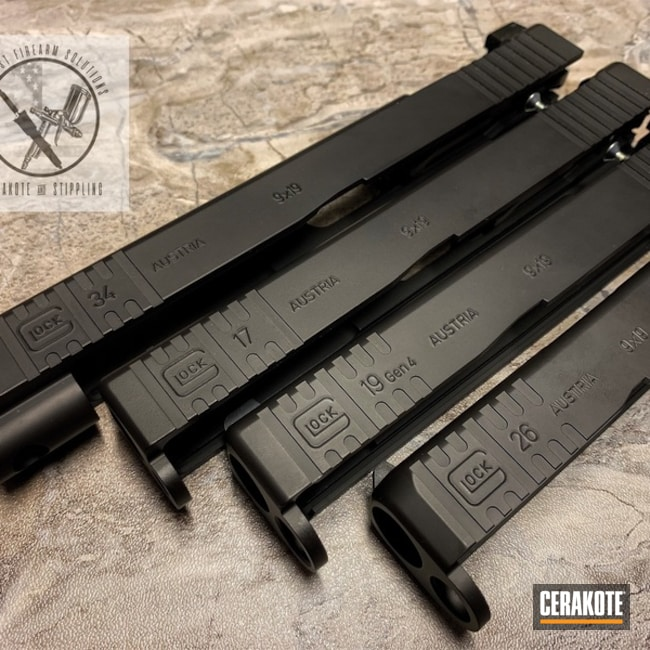 "Thumbnail image for project ""Cerakoted Glock Slides with a Graphite Black Finish"""