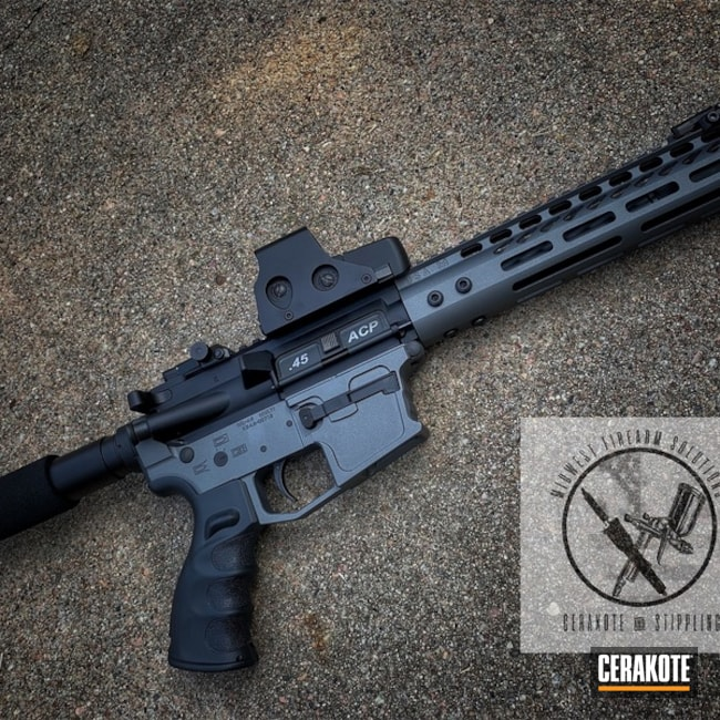 "Thumbnail image for project ""AR Pistol with a Cerakote Graphite Black and Tactical Grey Finish"""