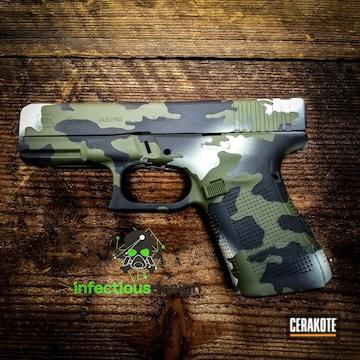 Cerakoted Custom Cerakote Multicam On This Glock 19 Edc Handgun