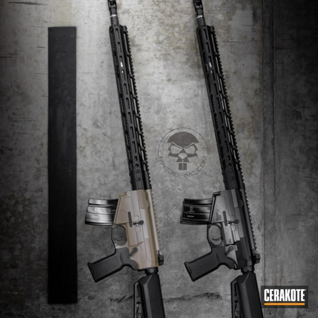 "Thumbnail image for project ""Rifle Coatings done in Cerakote Elite Blackout and FDE"""