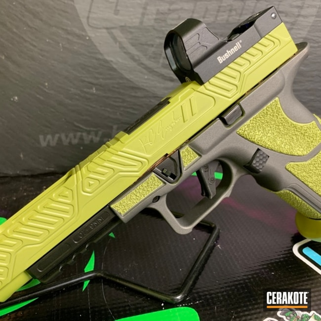 "Thumbnail image for project ""Zev Glock finished in H-237 Tungsten and H-313 Mojito"""