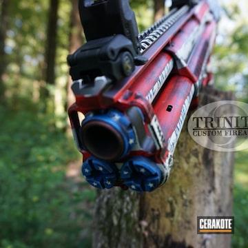 Cerakoted Kel-tec Ksg American Flag Shotgun