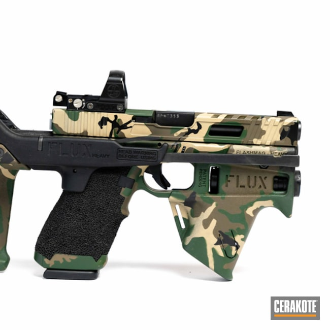 Flux Brace and Glock Handgun with a Matching MultiCam Finish