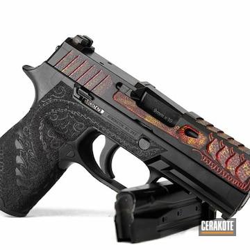 Cerakoted Custom Dragon Themed Handgun Engraving And Cerakote Finish