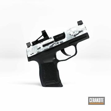 Cerakoted Sig Sauer Handgun With Cerakote Snow Multicam