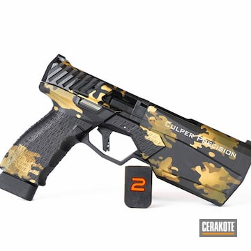 Cerakoted Silencerco Handgun In A Multicam Finish