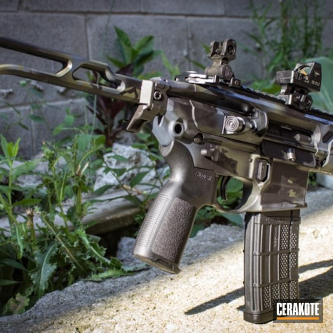 Tactical Rifle in a Cerakote MultiCam Finish
