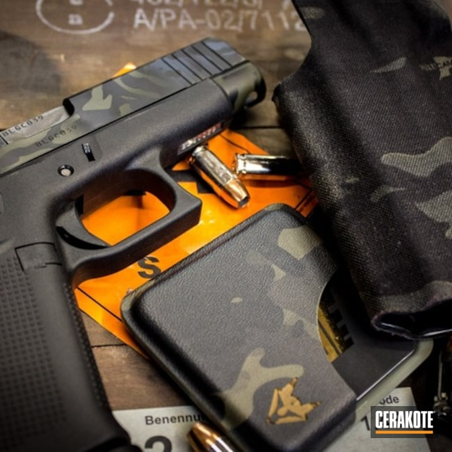 Glock 48 Handgun and Cerakote MultiCam