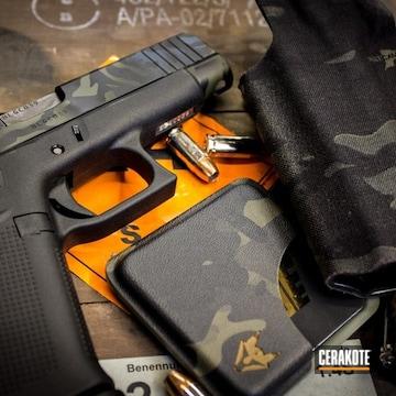 Cerakoted Glock 48 Handgun And Cerakote Multicam