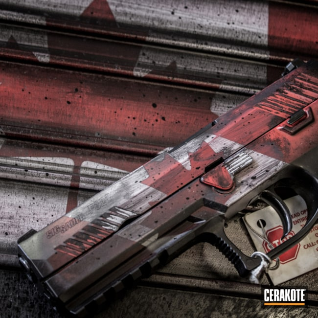 Cerakote Canadian Flag Finish on this Sig Sauer P320