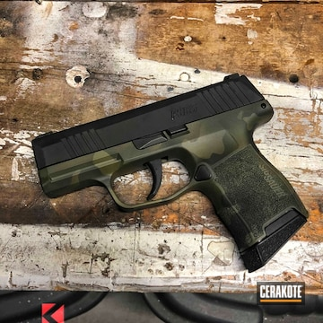 Cerakoted Sig Sauer P365 Handgun With Custom Cerakote Finish