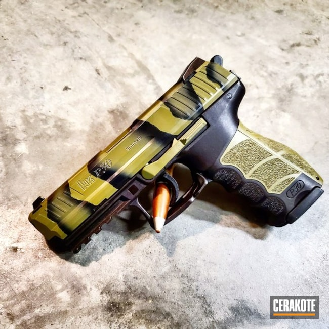 Cerakote Two-Color Fade Finish on this HK P30 Handgun