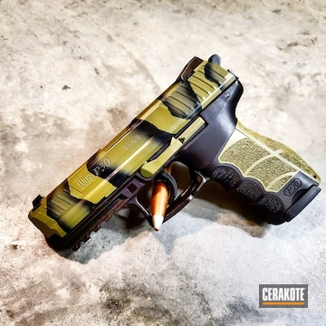Cerakoted Cerakote Two-color Fade Finish On This Hk P30 Handgun