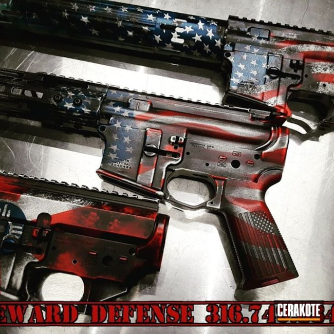Cerakote Wichita and American Themed Flag Finishes