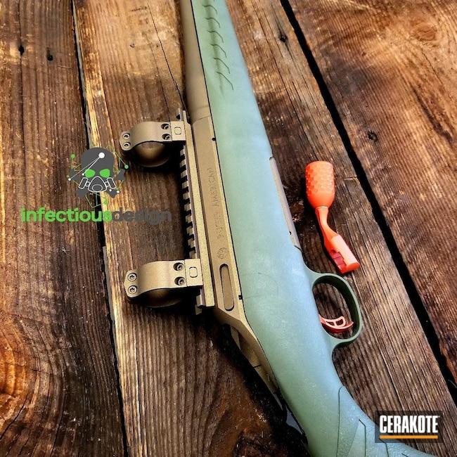 Cerakoted: Rifle,Burnt Bronze H-148,Gun Coatings,Hunter Orange H-128