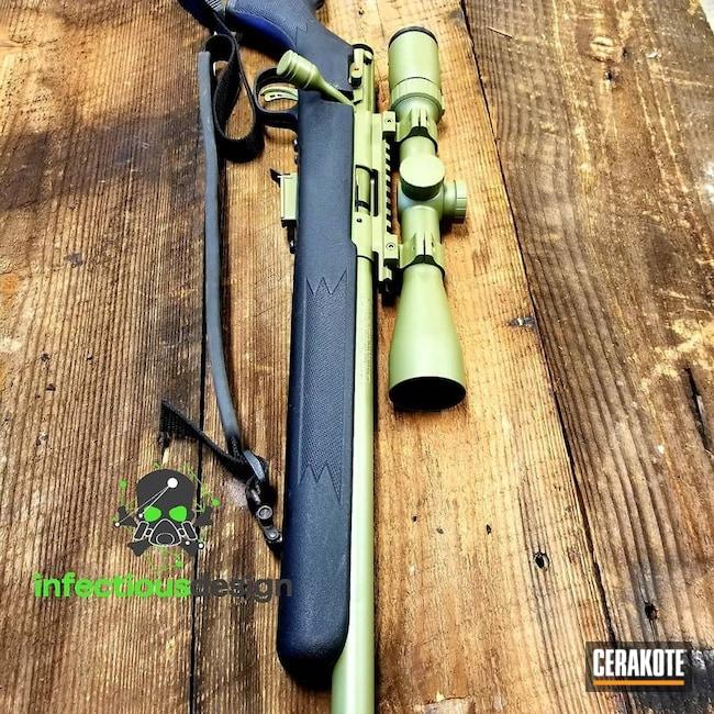 Cerakoted: Rifle,Bolt Action Rifle,Savage Arms,Gun Coatings,Noveske Bazooka Green H-189