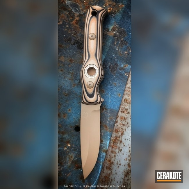 "Thumbnail image for project ""Fixed-Blade Knife Cerakoted in E-170 Coyote M17"""