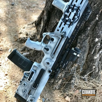 Cerakoted Iwi Tavor Rifle In H-146 And H-136