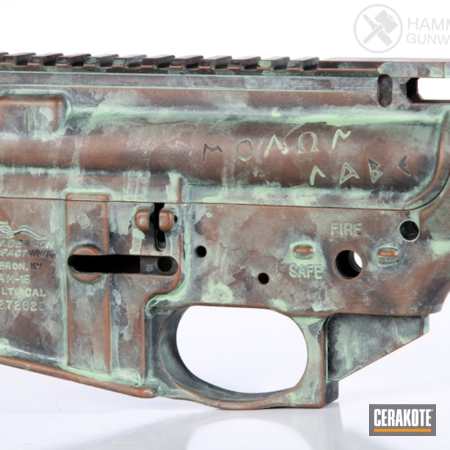 Anderson Mfg. Upper / Lower / Handguard and Cerakote Copper Patina Finish