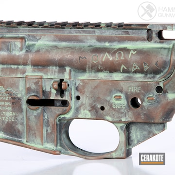 Cerakoted Anderson Mfg. Upper / Lower / Handguard And Cerakote Copper Patina Finish
