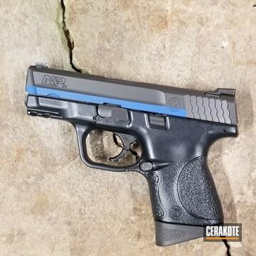 Cerakoted Smith & Wesson Handgun An Cerakote Thin Blue Line Finish