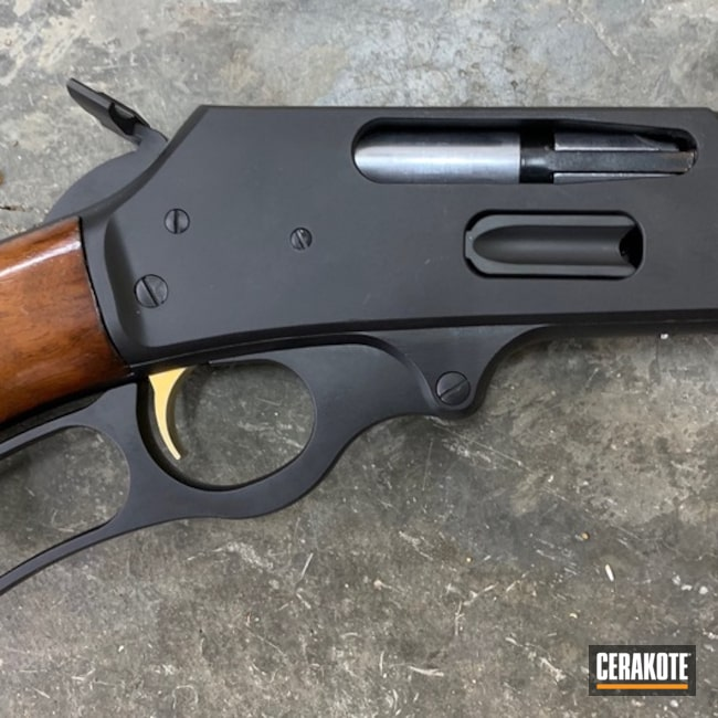 "Thumbnail image for project ""Marlin 30-30 Lever Action Rifle in Cerakote H-146 Graphite Black"""