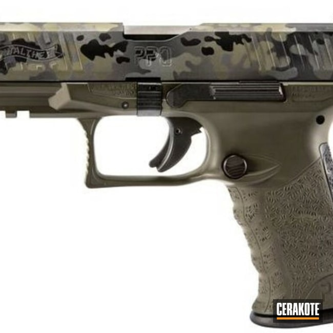 "Thumbnail image for project ""Walther Handgun with a Cerakote Flecktarn Camo"""