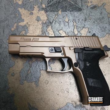 Cerakoted Sig Sauer P226 Cerakoted With E-100 Blackout And E-190 20150